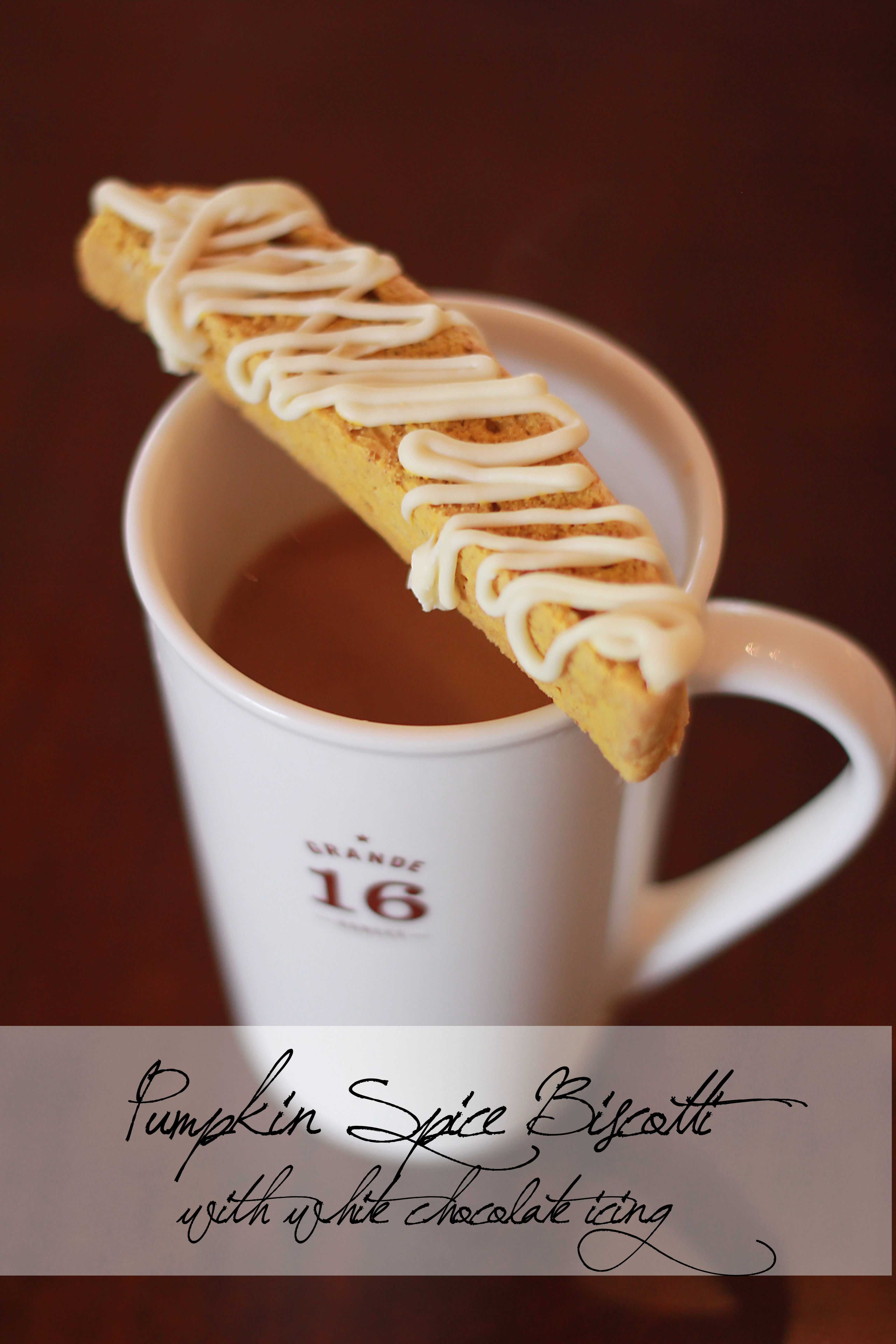 Pumpkin Spice Biscotti {with White Chocolate Icing} ‹ Skies of ...
