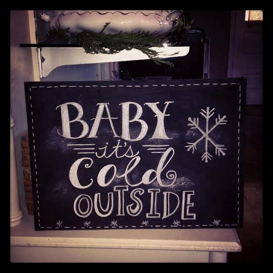 Baby It's Cold Outside ~ chalkboard art by Jana S.