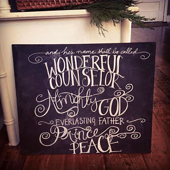 Wonderful Counselor chalkboard art ~by Jana S.