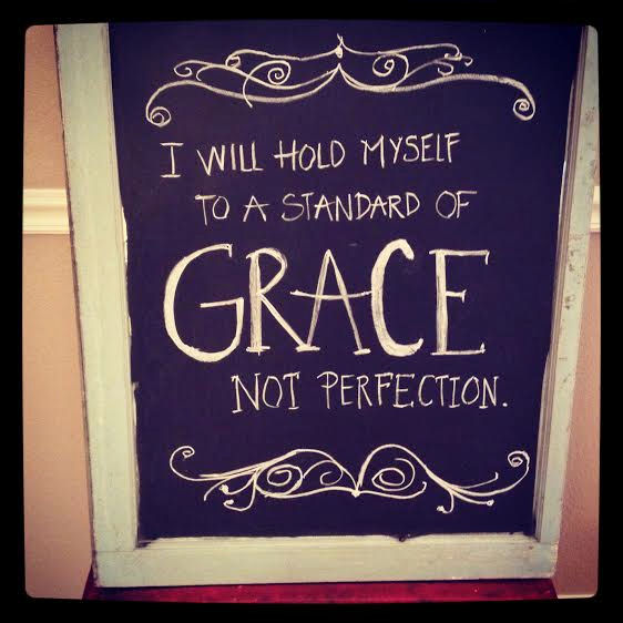 a standard of grace - chalkboard art by Jana S.
