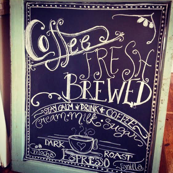 fresh brewed coffee chalkboard art ~ by Jana S.