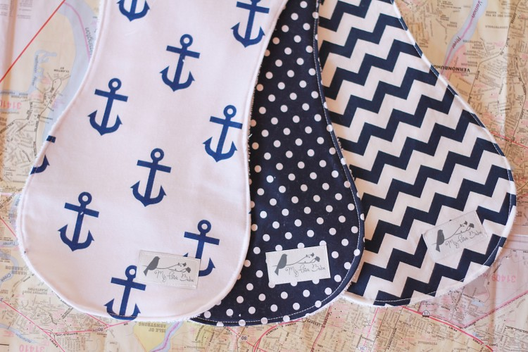 navy anchors & dots