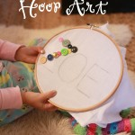 DIY Button Hoop Art