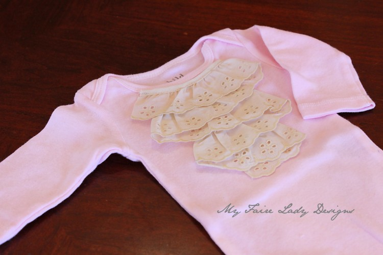 pink lace top onesie