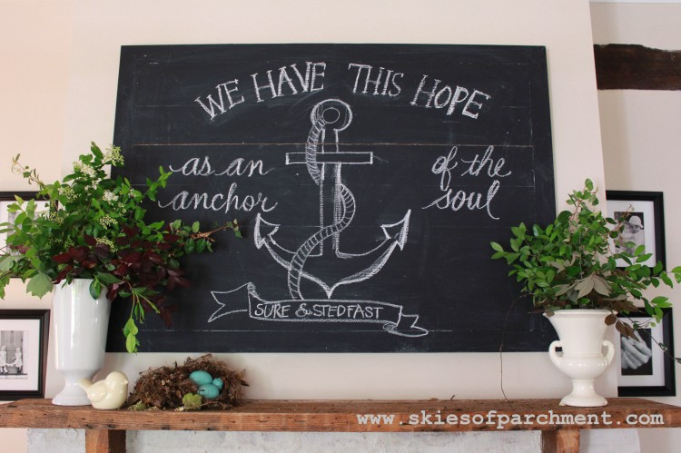 anchor chalkboard