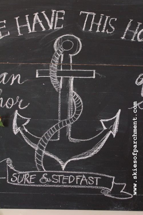 anchor of the soul chalkboard
