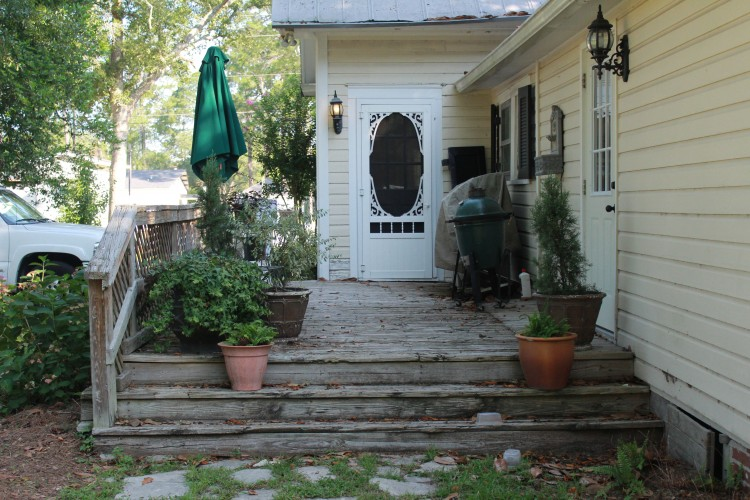 back deck- before