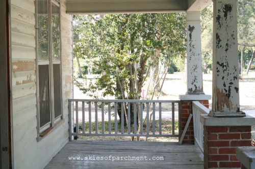 cottage porch before
