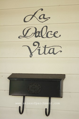 'la dolce vita' - it means 'the sweet life' in Italian