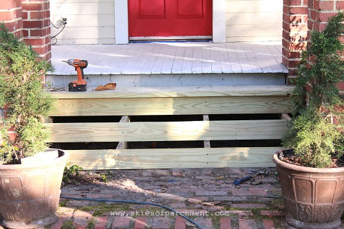 the front steps needed to be replaced