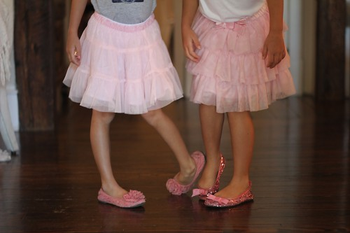 tutus and sparkly shoes