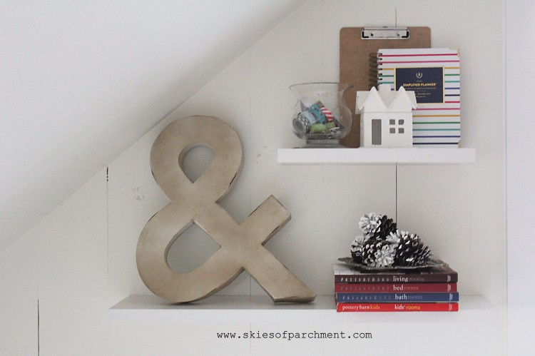 floating shelves with simple decor