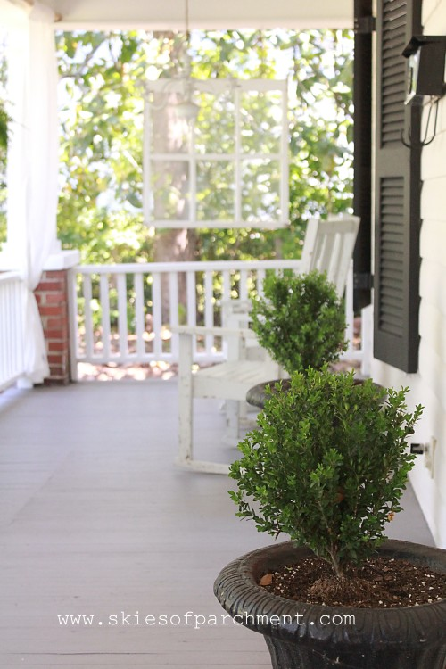 front porch boxwoods