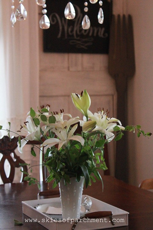 lilies and crystals