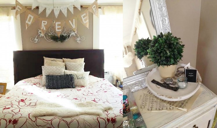the little southern country home christmas tour skies 17045 | shabby chic master bedroom 750x441